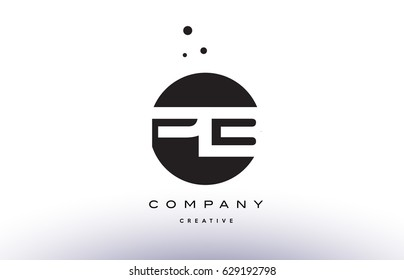 PB P B alphabet company letter logo design vector icon template simple black white circle dot dots creative abstract