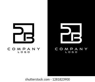 pb/bp Letters Logo Design. Simple and Creative Letter Concept Illustration vector