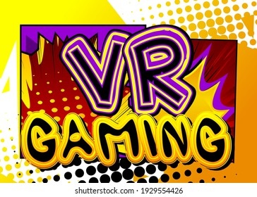 Pc or Console gaming, Streaming Gamer related words, quote on Comic book style background. Poster, banner, template. Cartoon explosion expression. Vector illustrated.