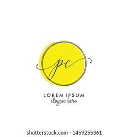 PC Initial beauty monogram logo vector