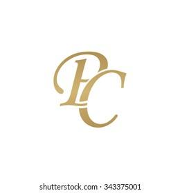PC initial monogram logo