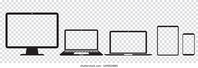 pc laptop smartphone tablet vector illustration
