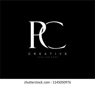 PC Letter Linked Luxury Premium Logo