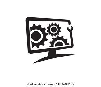 PC Repair Logo Template Design Vector, Emblem, Concept Design, Creative Symbol, Icon