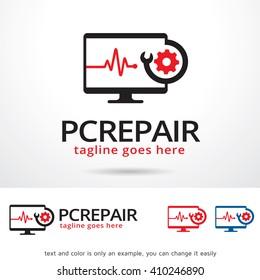PC Repair Logo Template Design Vector Design