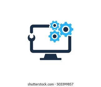 PC Repair Service Logo Design Template