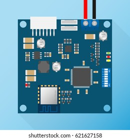 pcb with component