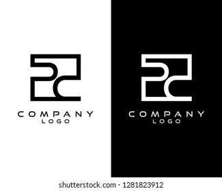 pc/cp Letters Logo Design. Simple and Creative Letter Concept Illustration vector