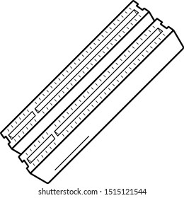 PCI connector slots on computer motherboard. Vector outline icon.