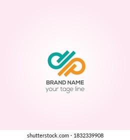 PD business vector logo design, DP Creative logo design, cooperate logo