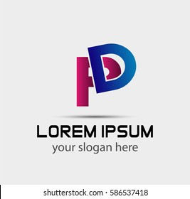 PD company linked letter logo