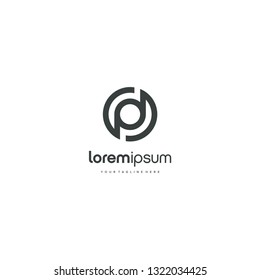 PD DP letter circle logo vector icon illustration