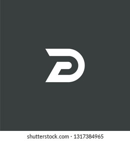 PD initial DP letter logo icon vector illustration