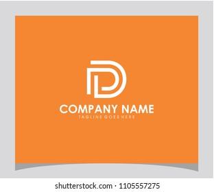 PD initial icon logo design vector eps 10