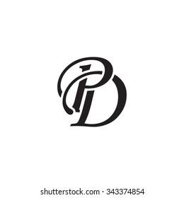 PD initial monogram logo