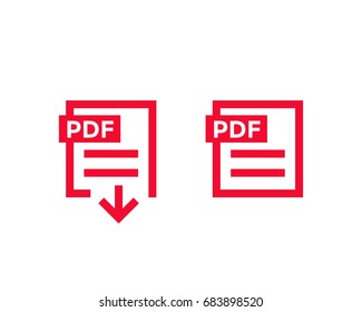 PDF document, download pdf file icons