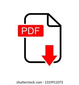 PDF download vector icon, Vector PDF icon