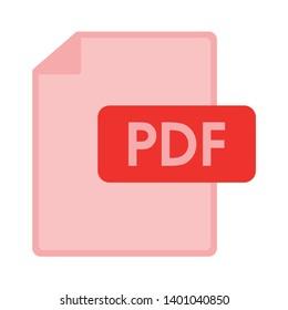 PDF file document icon. Download pdf button. PDF file symbol.