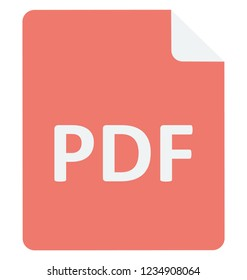 Pdf File Vector Icon  that can be easily edit or modified