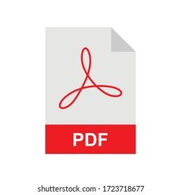 PDF format file vector icon