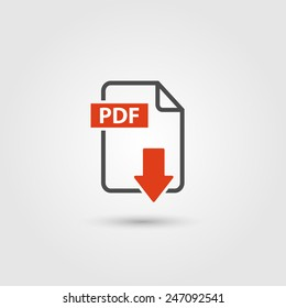 PDF icon isolated on background