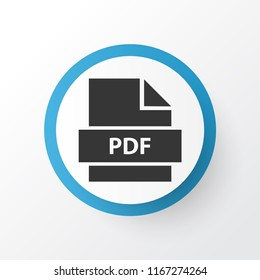 Pdf icon symbol. Premium quality isolated paper element in trendy style.