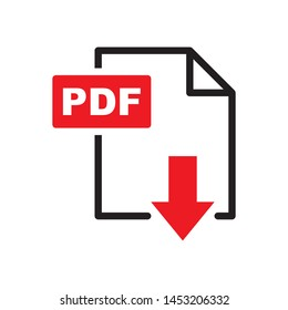 PDF icon in trendy flat style design. Vector graphic illustration. Suitable for website design, logo, app and ui. EPS 10.