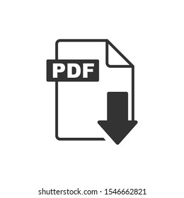 Pdf Icon vector sign isolated for graphic and web design. Pdf file symbol template color editable on white background.