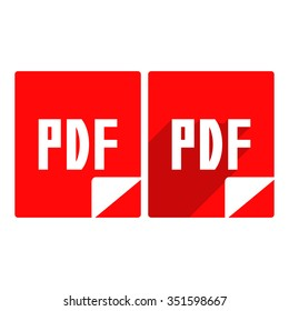 pdf icon.vector illustration.
