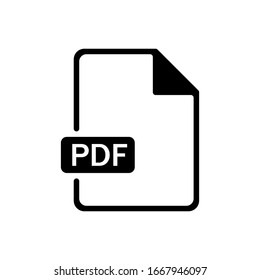 Pdf outline icon isolated. Symbol, logo illustration for mobile concept and web design.