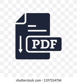 Pdf transparent icon. Pdf symbol design from Online learning collection.