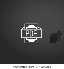 Pdf vector icon. Pdf concept stroke symbol design. Thin graphic elements vector illustration, outline pattern for your web site design, logo, UI. EPS 10.