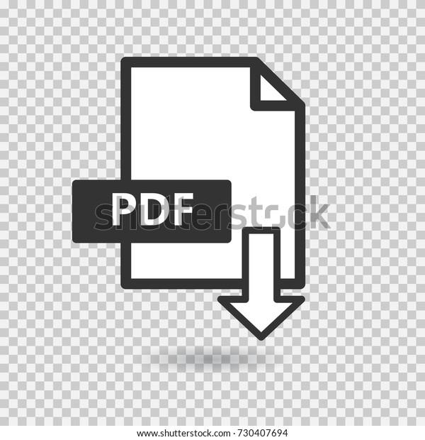 Pdf Vector Icon On Transparent Background Stock Vector Royalty