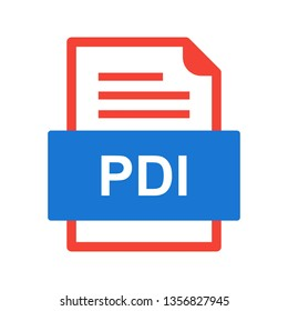 pdi images stock photos vectors shutterstock https www shutterstock com image vector pdi file document icon 1356827945