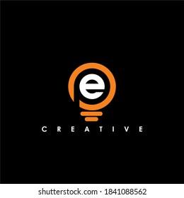 PE Letter Initial Logo Design Template Vector Illustration