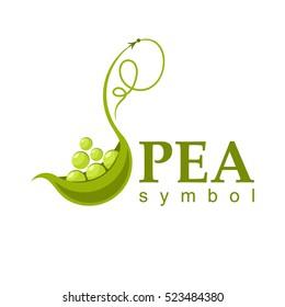 Pea icon. vector symbol