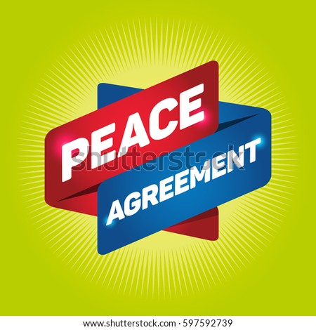 Peace Agreement Arrow Tag Sign Stock Vector Royalty Free 597592739