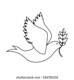 peace dove icon image