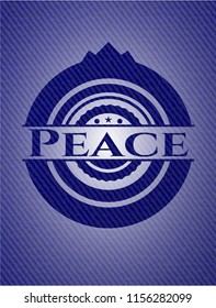 Peace emblem with jean high quality background