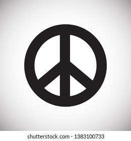 Peace icon on background for graphic and web design. Simple vector sign. Internet concept symbol for website button or mobile app