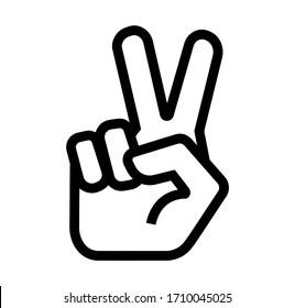 peace icon on white background