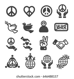 peace icon set