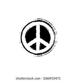 Peace icon  sign template