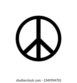 Peace icon. sign vector illustration