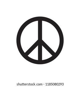 peace icon in trendy flat design
