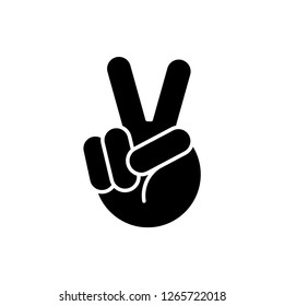 peace icon vector template