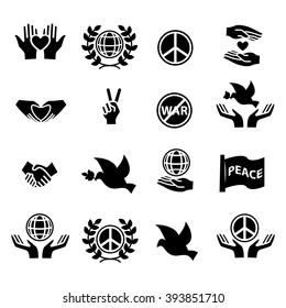 Peace icons set