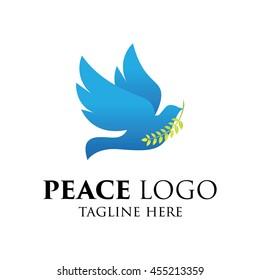 Peace logo template, World Peace symbol.