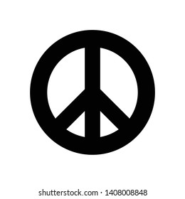 Peace and love antiwar icon pacifism symbol hippie culture sign