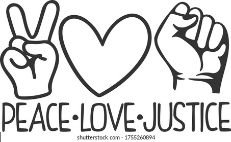 Peace Love Justice | Stop Racism